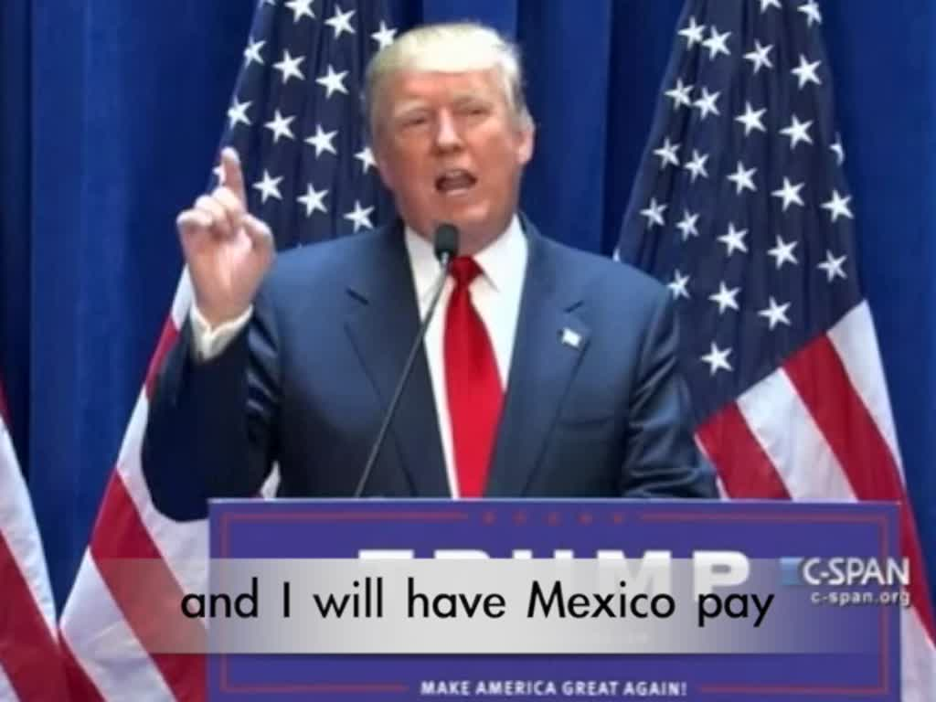 trump mexico build the wall