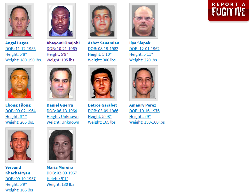 Top ten fugitives