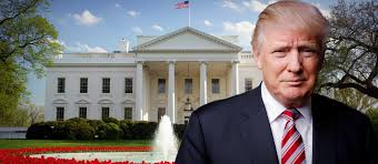 Trump in front of White House