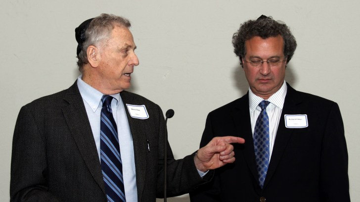 Morris Dees & Richard Cohen at Shabbat Dinner