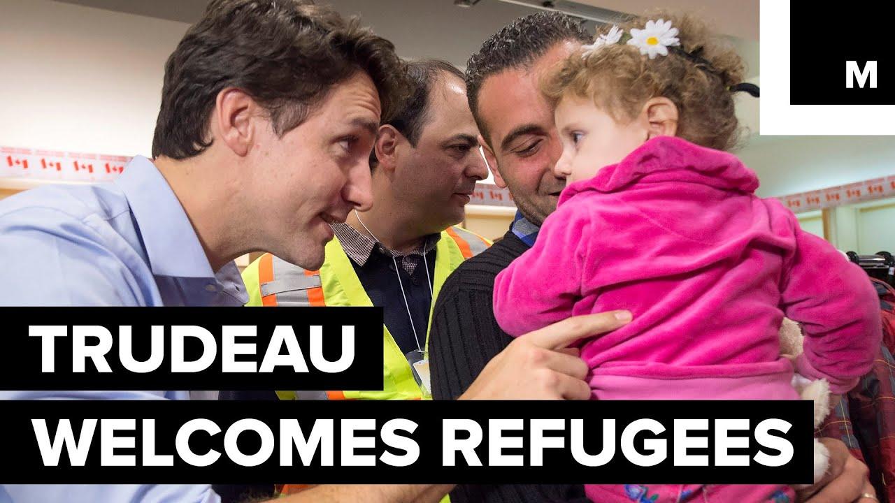 Trudeua welcomes refugees
