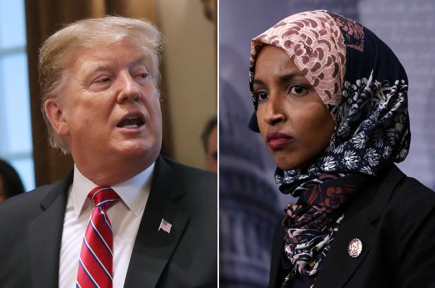 Trump and Omar 2
